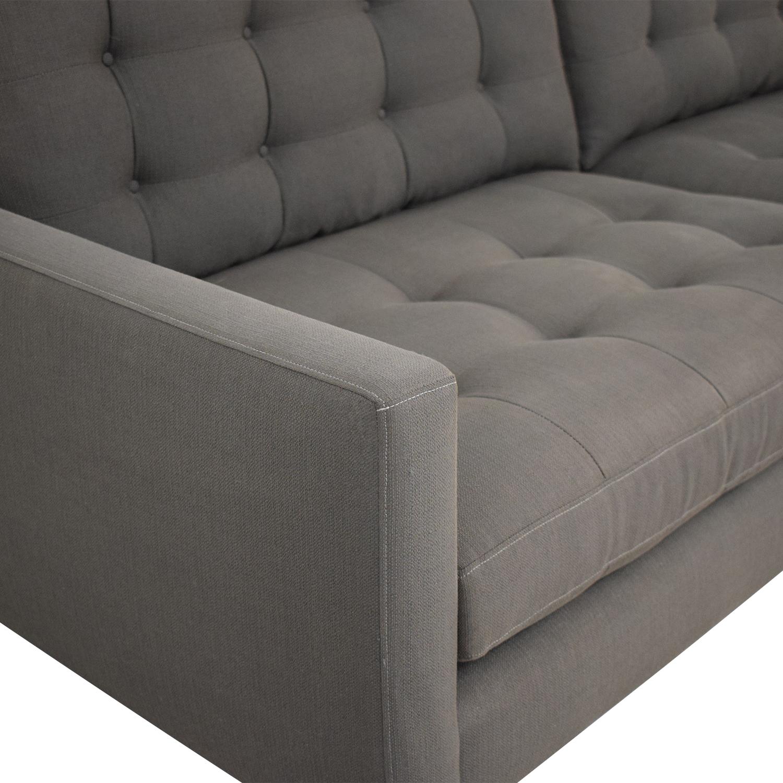 Crate & Barrel Crate & Barrel Petrie Mid Century Sofa dimensions
