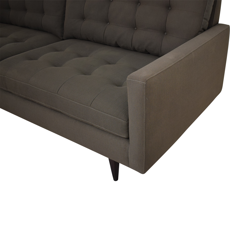 69% OFF - Crate & Barrel Crate & Barrel Petrie Mid Century Sofa / Sofas