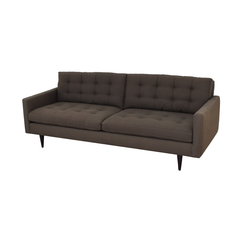 Crate & Barrel Petrie Mid Century Sofa / Sofas