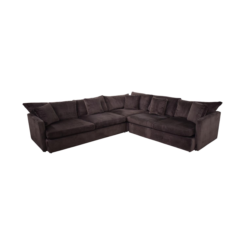Crate & Barrel Crate & Barrel Three-Piece Sectional Sofa discount