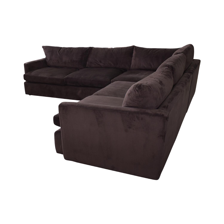 buy Crate & Barrel Three-Piece Sectional Sofa Crate & Barrel Sofas