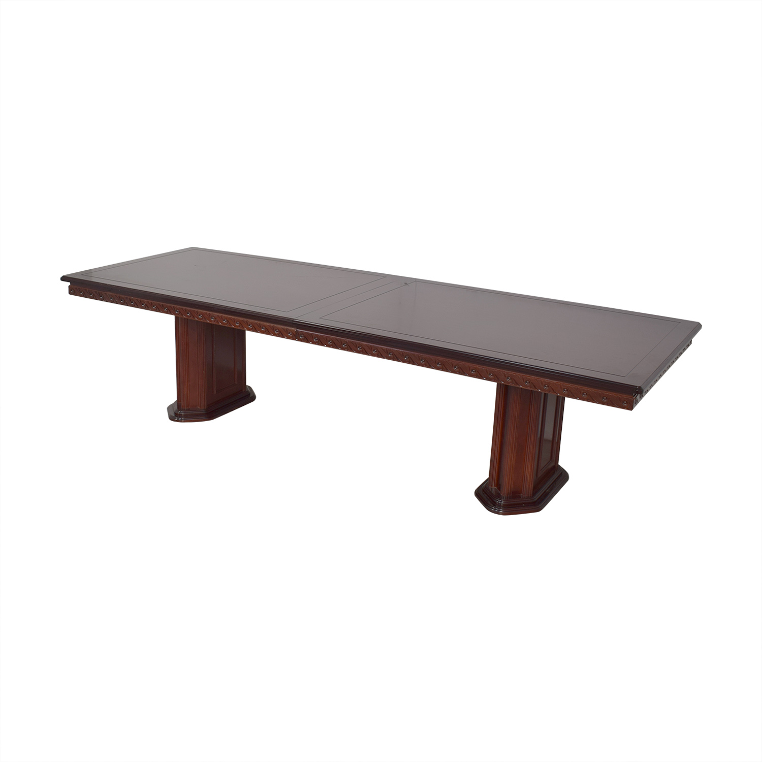 Rectangular Extendable Dining Room Table dark brown