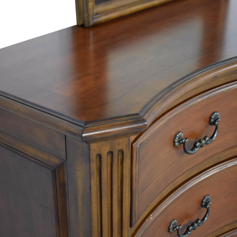 Ethan Allen Ethan Allen Serpentine Dresser with Mirror price