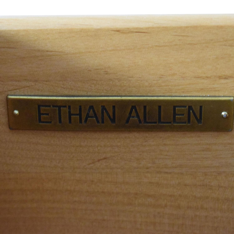 Ethan Allen Serpentine Dresser with Mirror Ethan Allen