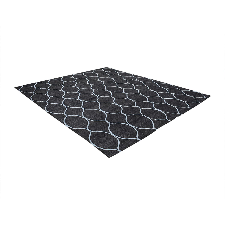 Obeetee Obeetee Ryma 8X5 Geometric Wool Rug