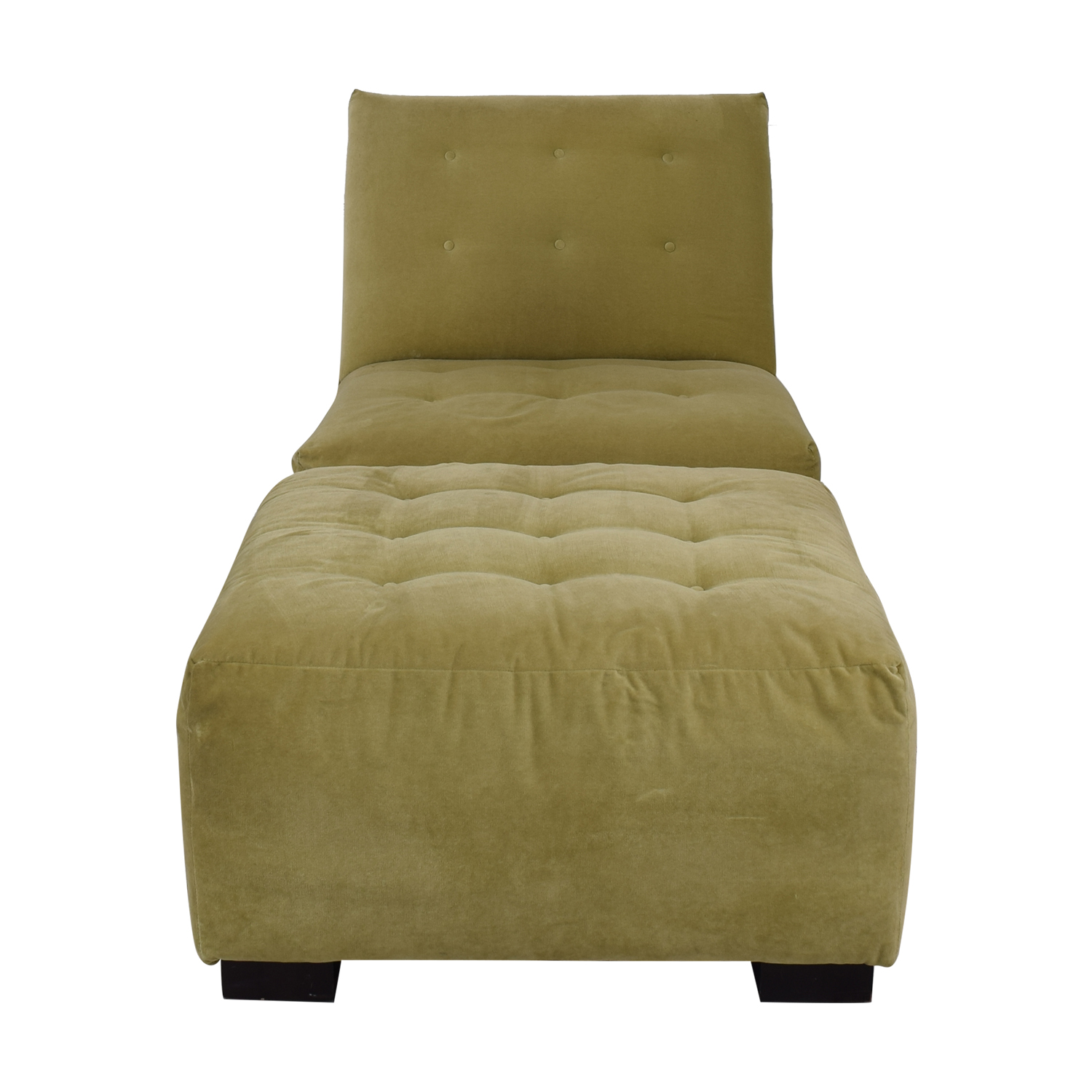 Crate & Barrel Crate & Barrel Sage Green Tufted Lounge Chair & Ottoman coupon