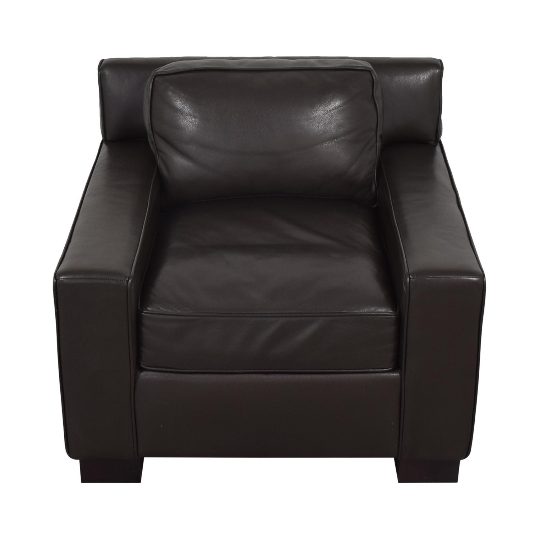 buy West Elm West Elm Leather Arm Chair online