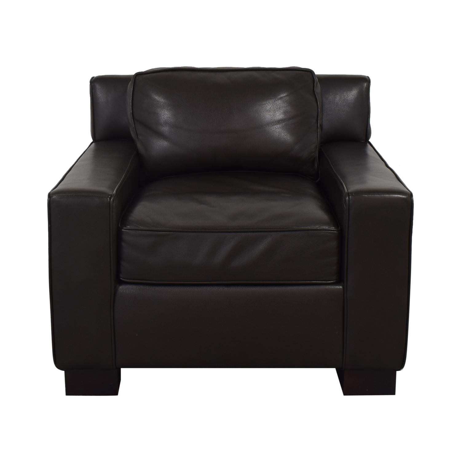 shop West Elm West Elm Leather Arm Chair online
