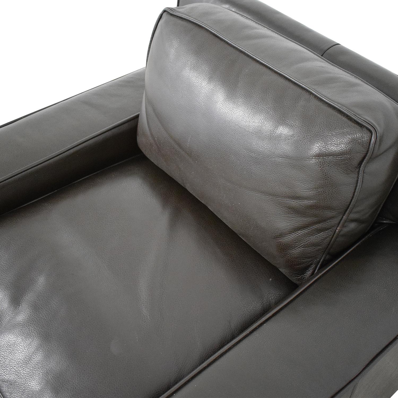 West Elm West Elm Leather Arm Chair discount