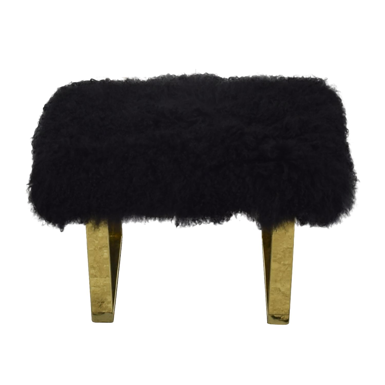 buy Fuzzy Modern Stool  Chairs