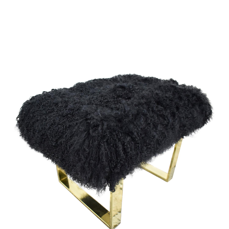 buy Fuzzy Modern Stool  Stools