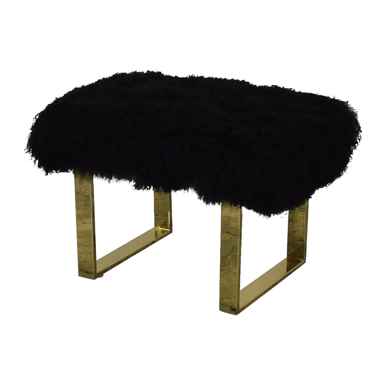 Fuzzy Modern Stool nj