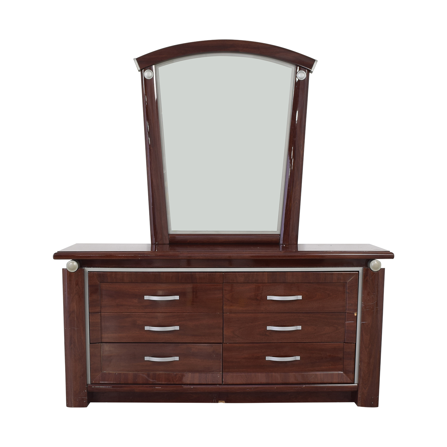 Arros Group Furniture Dresser with Mirror sale