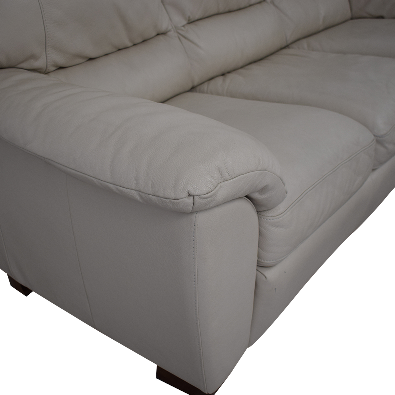 Italsofa White Leather Sofa / Sofas