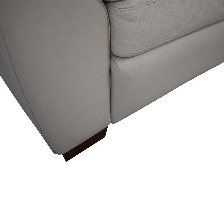 Italsofa Italsofa White Leather Sofa Sofas
