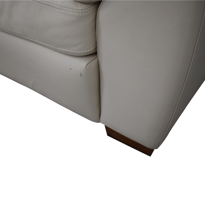 Italsofa Italsofa White Leather Sofa on sale