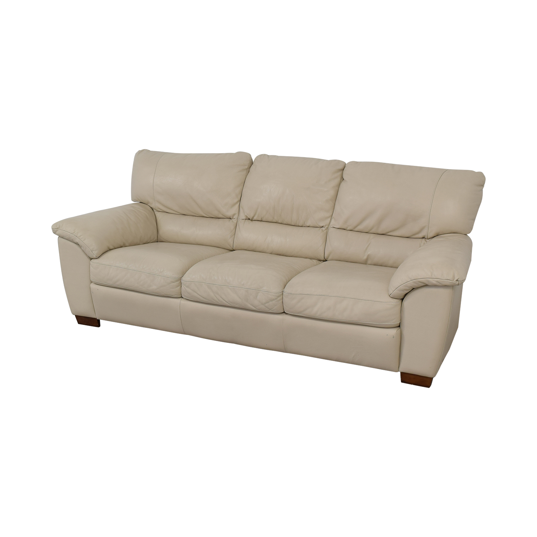buy Italsofa White Leather Sofa Italsofa Classic Sofas