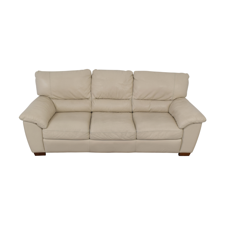 Italsofa Italsofa White Leather Sofa dimensions