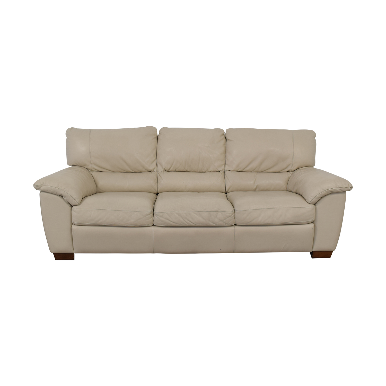 76% OFF - Italsofa Italsofa White Leather Sofa / Sofas