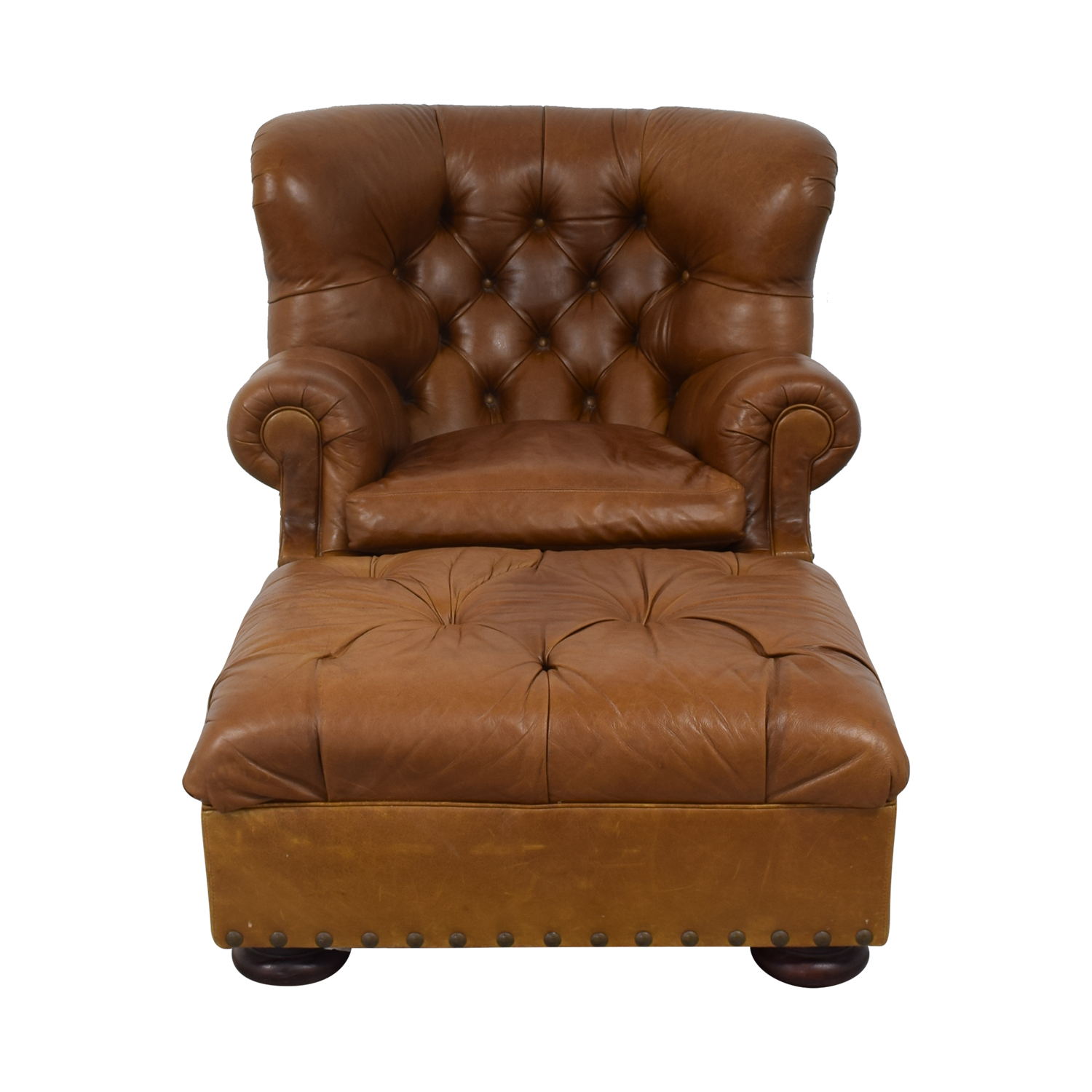 Ralph Lauren Writers Chair and Ottoman / Accent Chairs