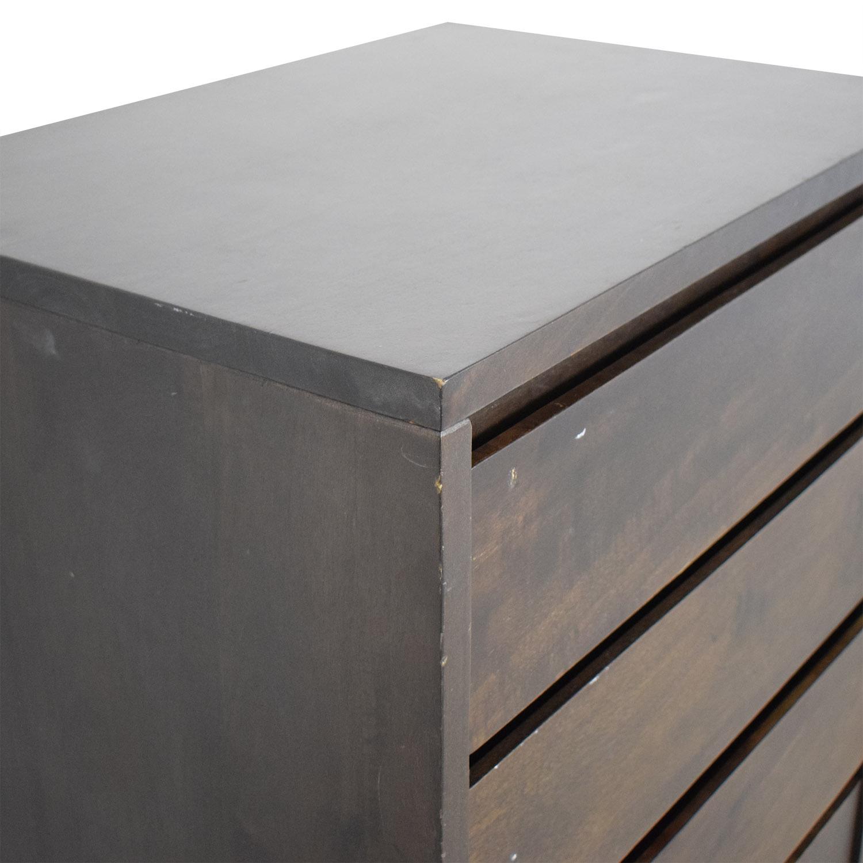 CB2 CB2 Five-Drawer Dresser brown