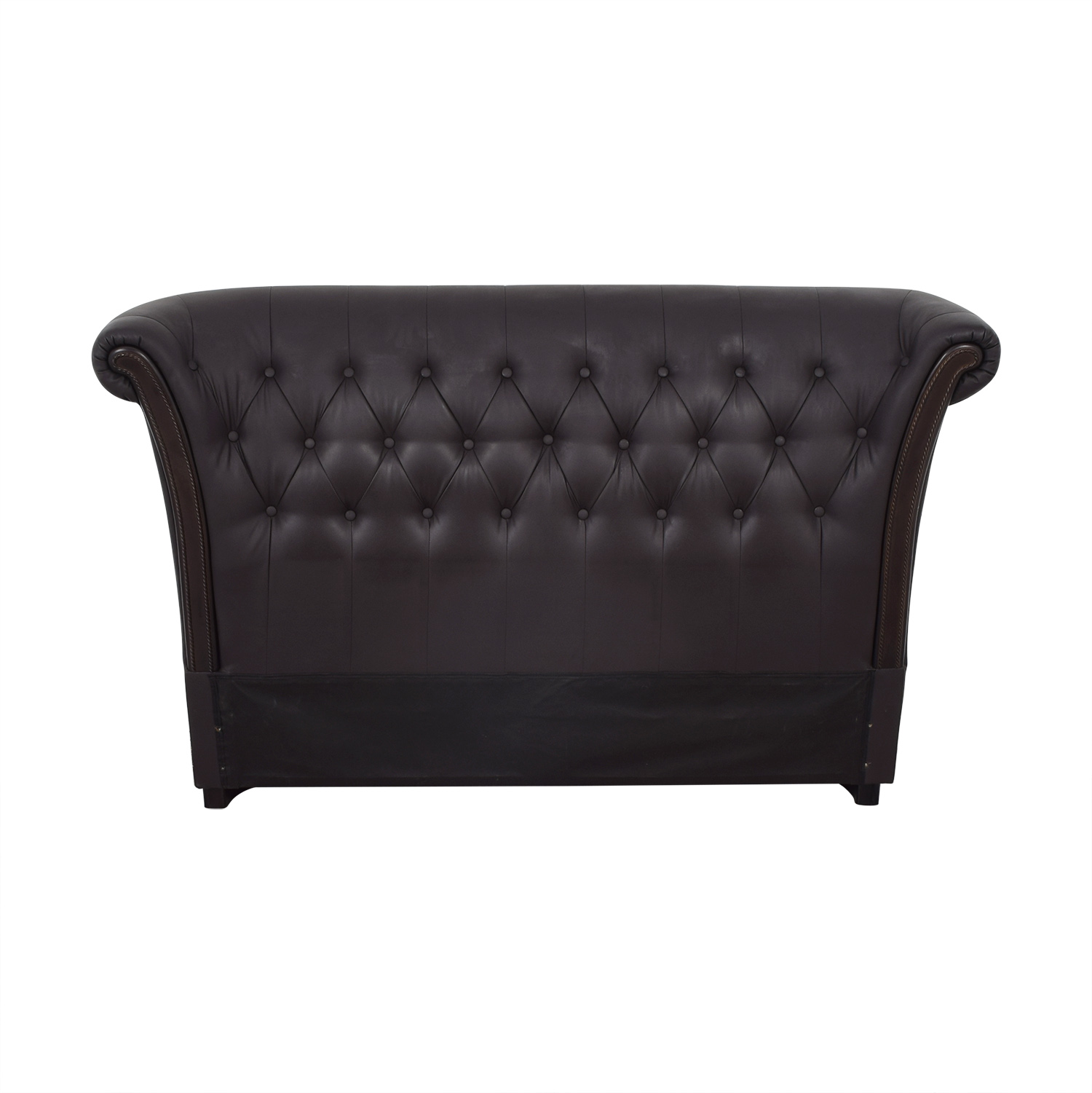 Tufted Leather Queen Headboard for sale