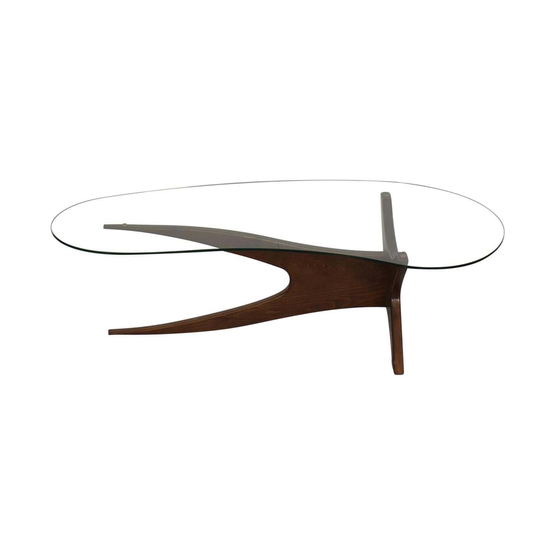 Thrive Glass Top Modern Coffee Table Thrive