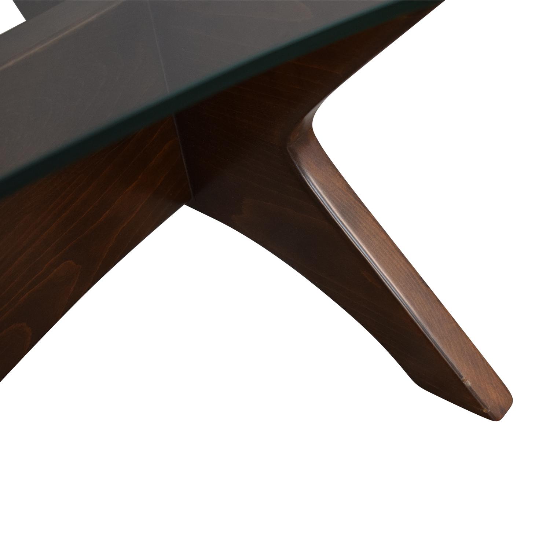 buy Thrive Glass Top Modern Coffee Table Thrive