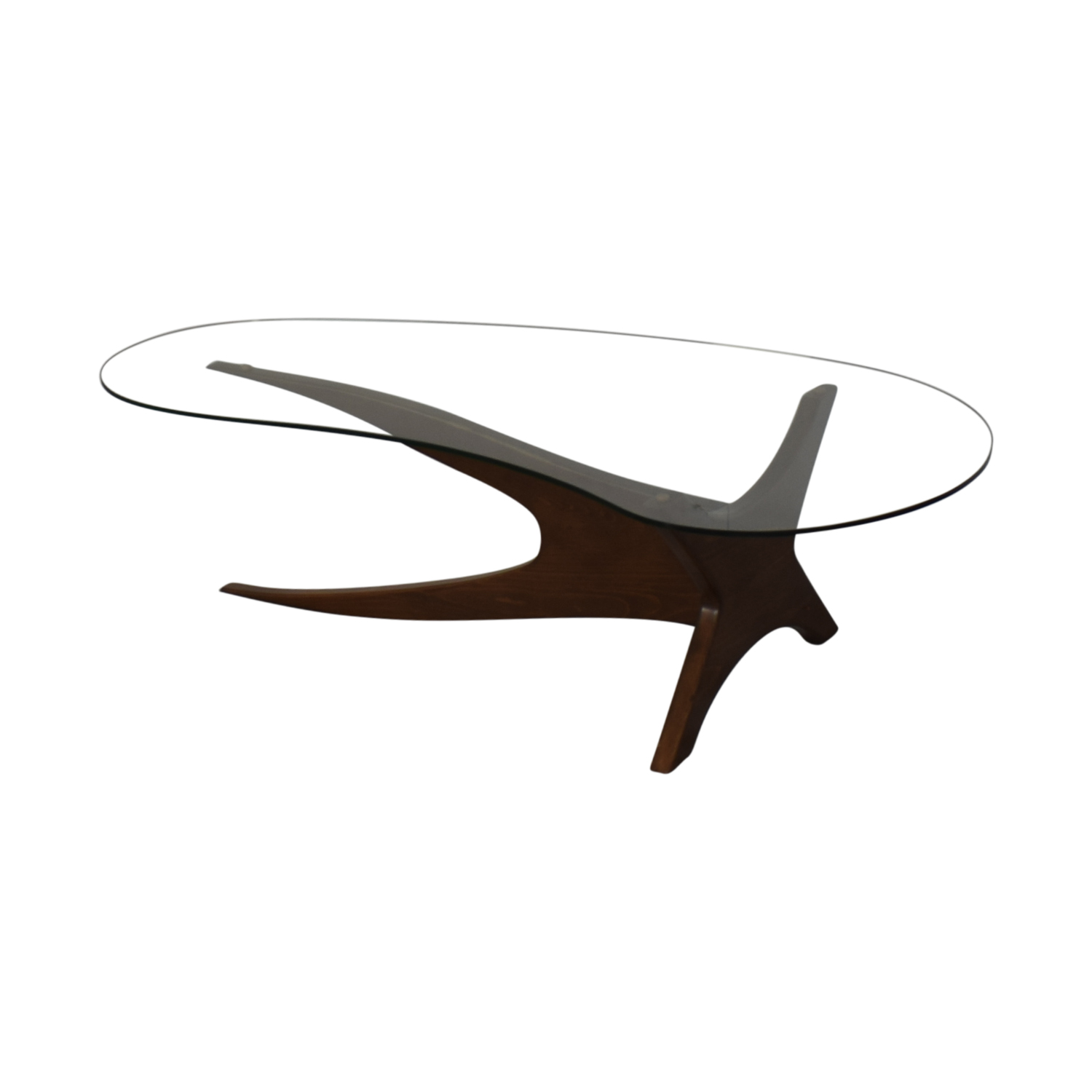 Thrive Thrive Glass Top Modern Coffee Table Brown & Clear