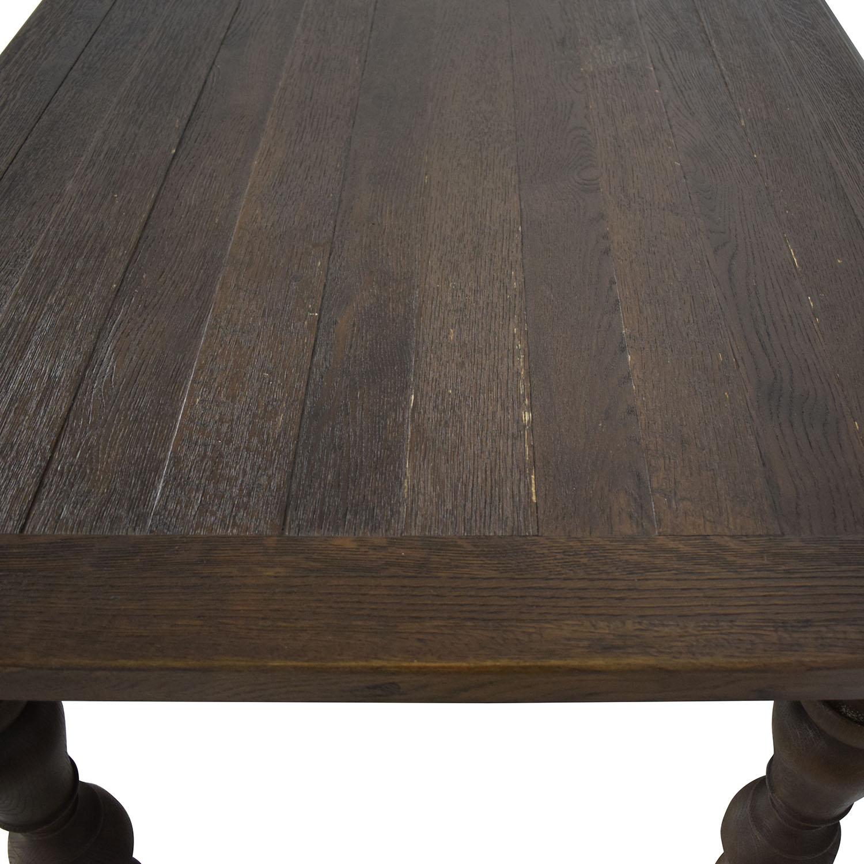 buy Restoration Hardware Brown Oak Table Restoration Hardware Dinner Tables