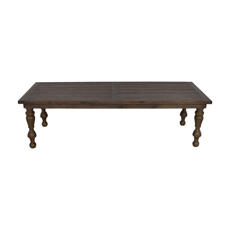 Restoration Hardware Restoration Hardware Brown Oak Table Dinner Tables