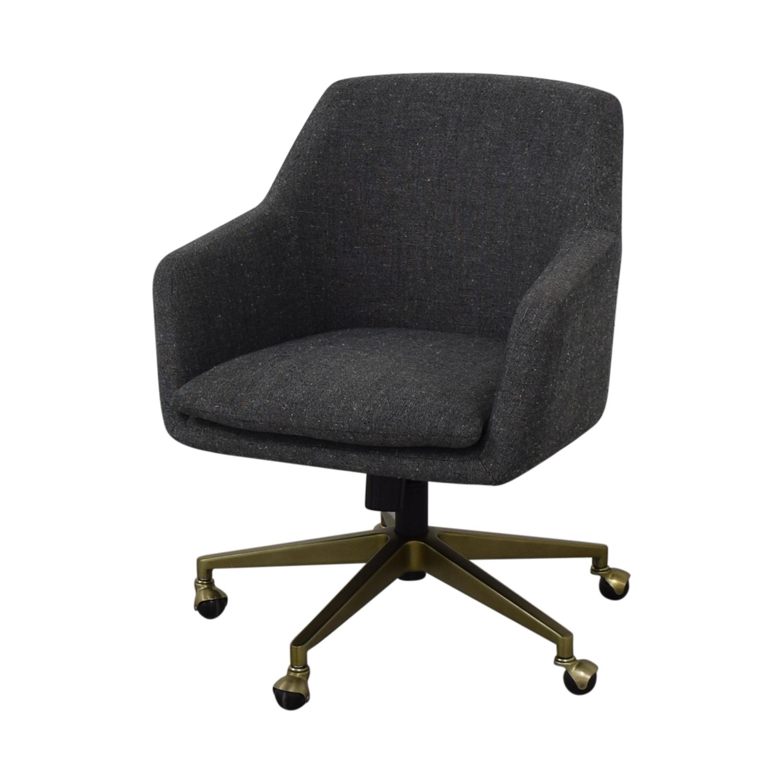 West Elm West Elm Helvetica Fabric Desk Chair dimensions