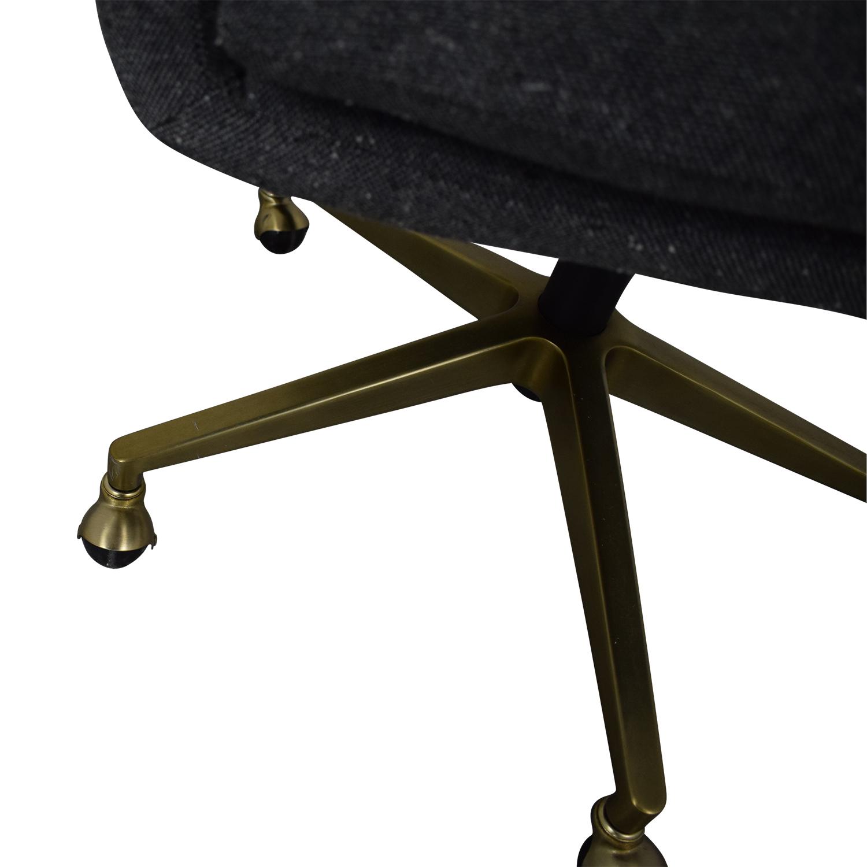 West Elm West Elm Helvetica Fabric Desk Chair discount