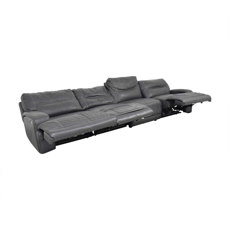 Natuzzi Four Seat Reclining Sofa / Sofas