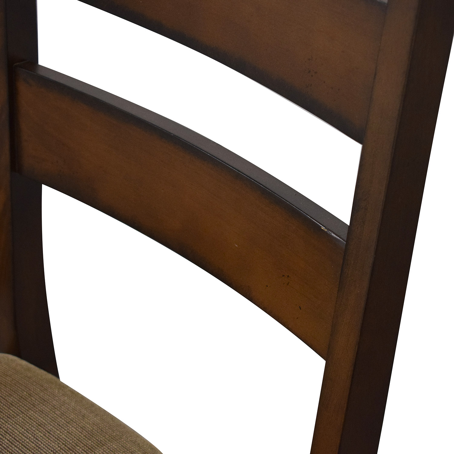 Wayfair Wayfair Ladder Back Upholstered Dining Chairs brown and tan