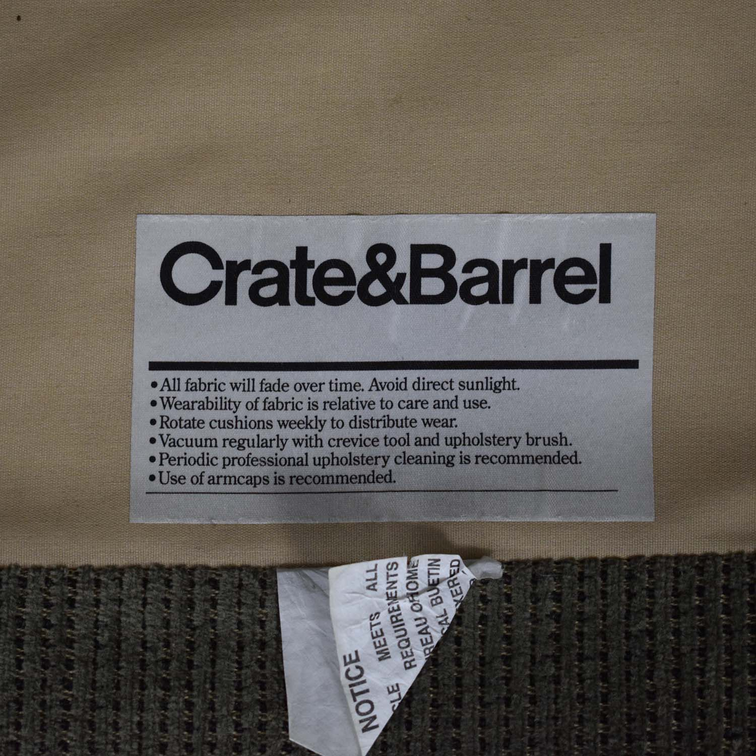 shop Crate & Barrel Upholstered Chair with Ottoman Crate & Barrel Chairs