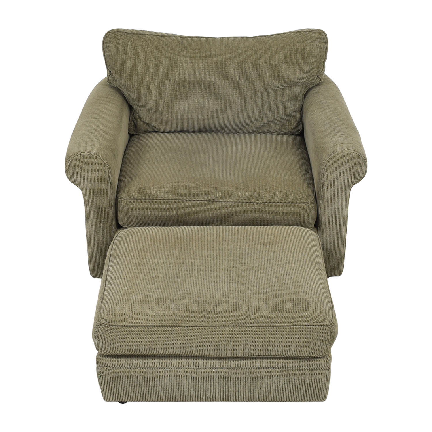 Crate & Barrel Crate & Barrel Upholstered Chair with Ottoman price