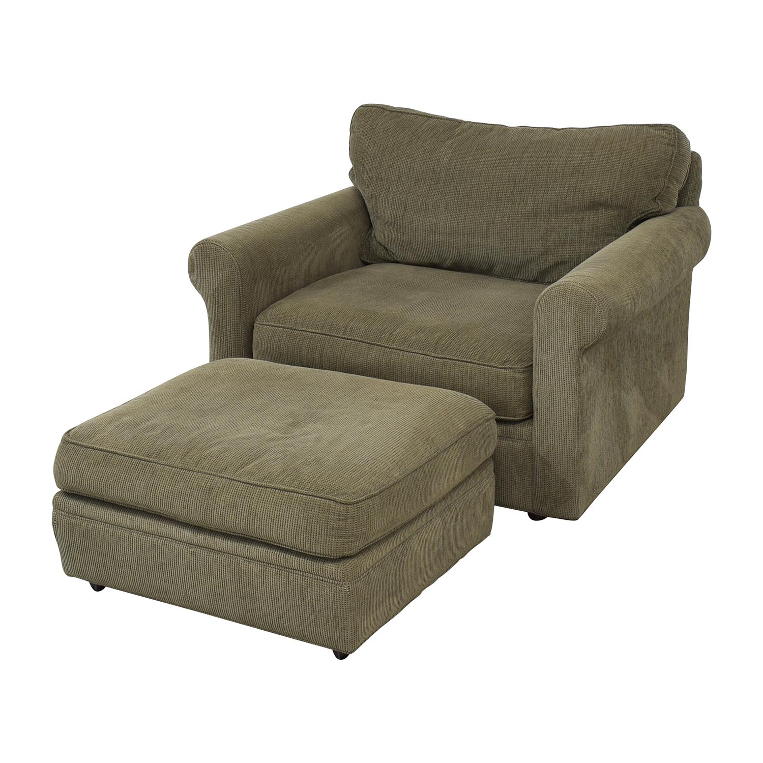 buy Crate & Barrel Upholstered Chair with Ottoman Crate & Barrel