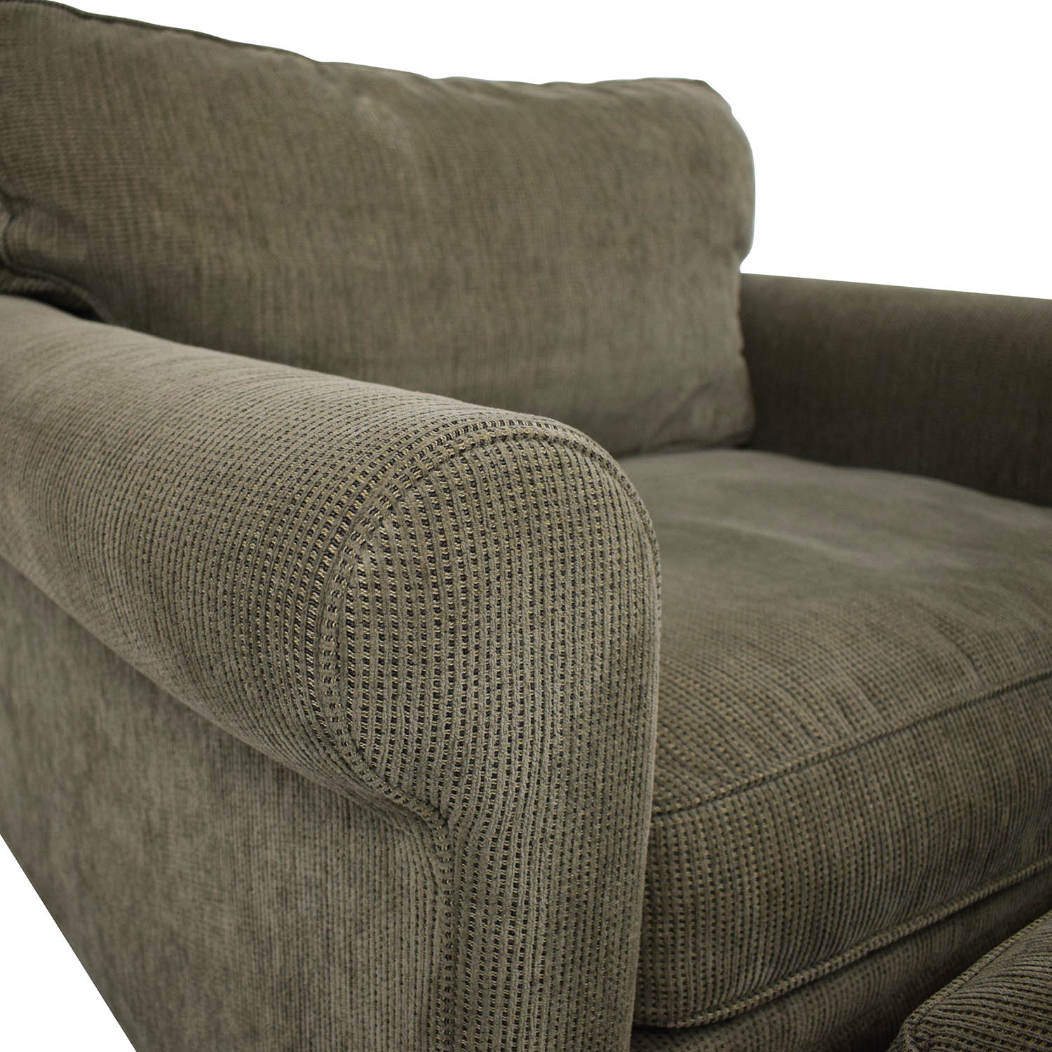 Crate & Barrel Crate & Barrel Upholstered Chair with Ottoman