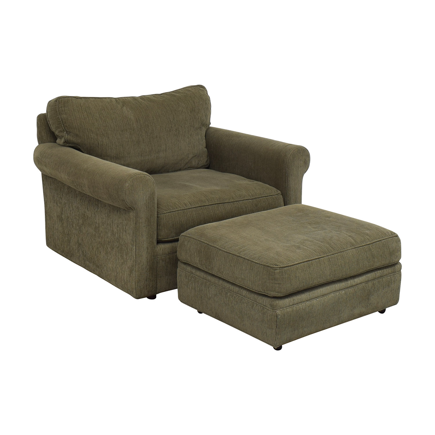 Crate & Barrel Crate & Barrel Upholstered Chair with Ottoman Chairs