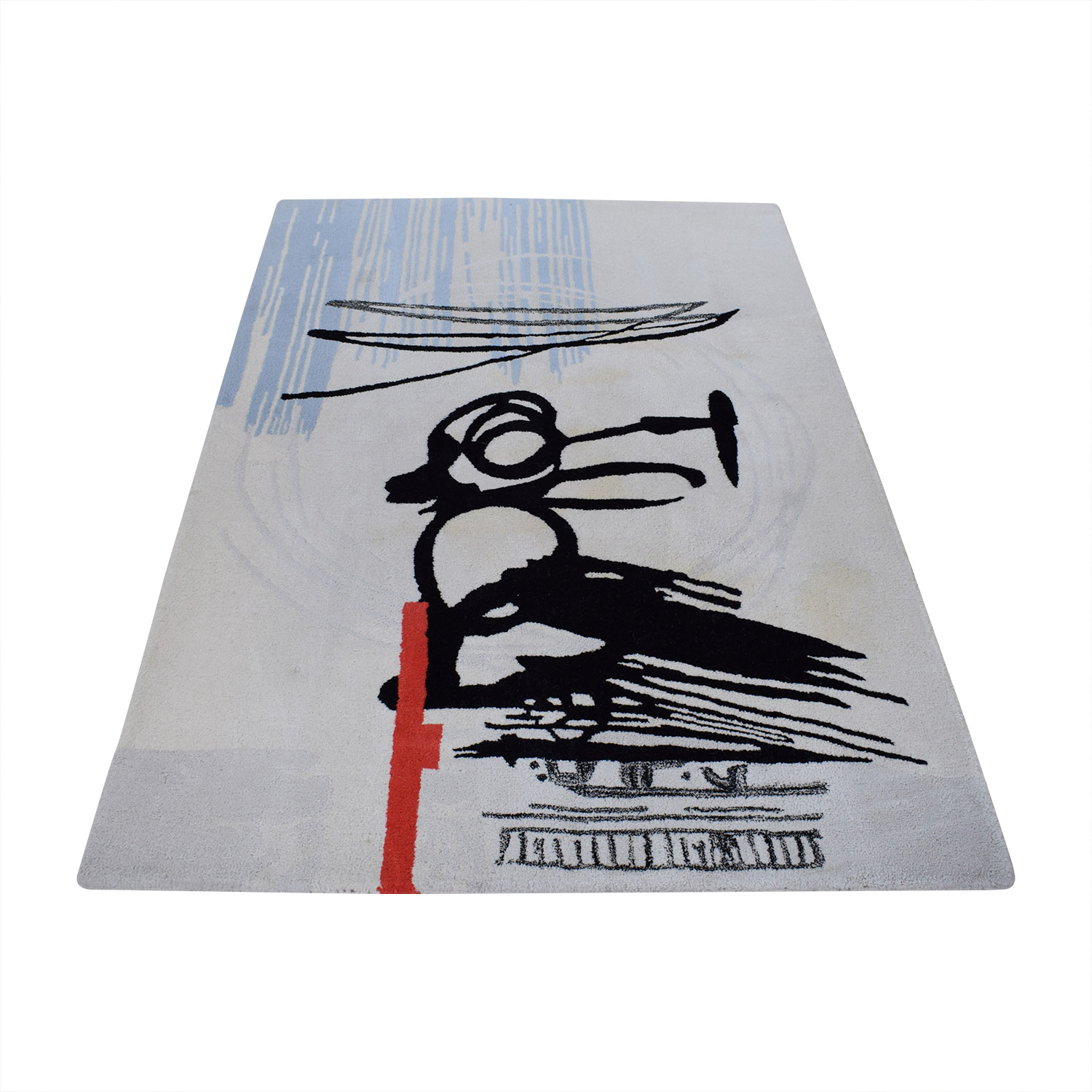 CB2 Contemporary Brush Rug CB2