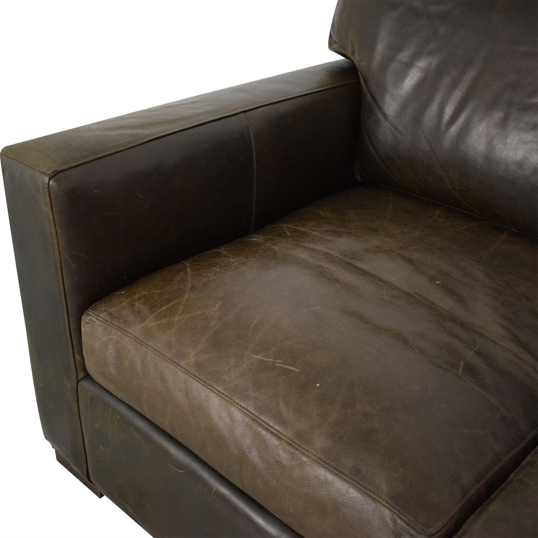 Crate & Barrel Crate & Barrel Axis II Three-Seat Sofa brown