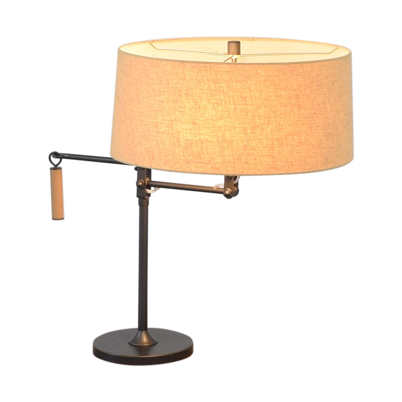 Crate & Barrel Autry Adjustable Table Lamp / Decor