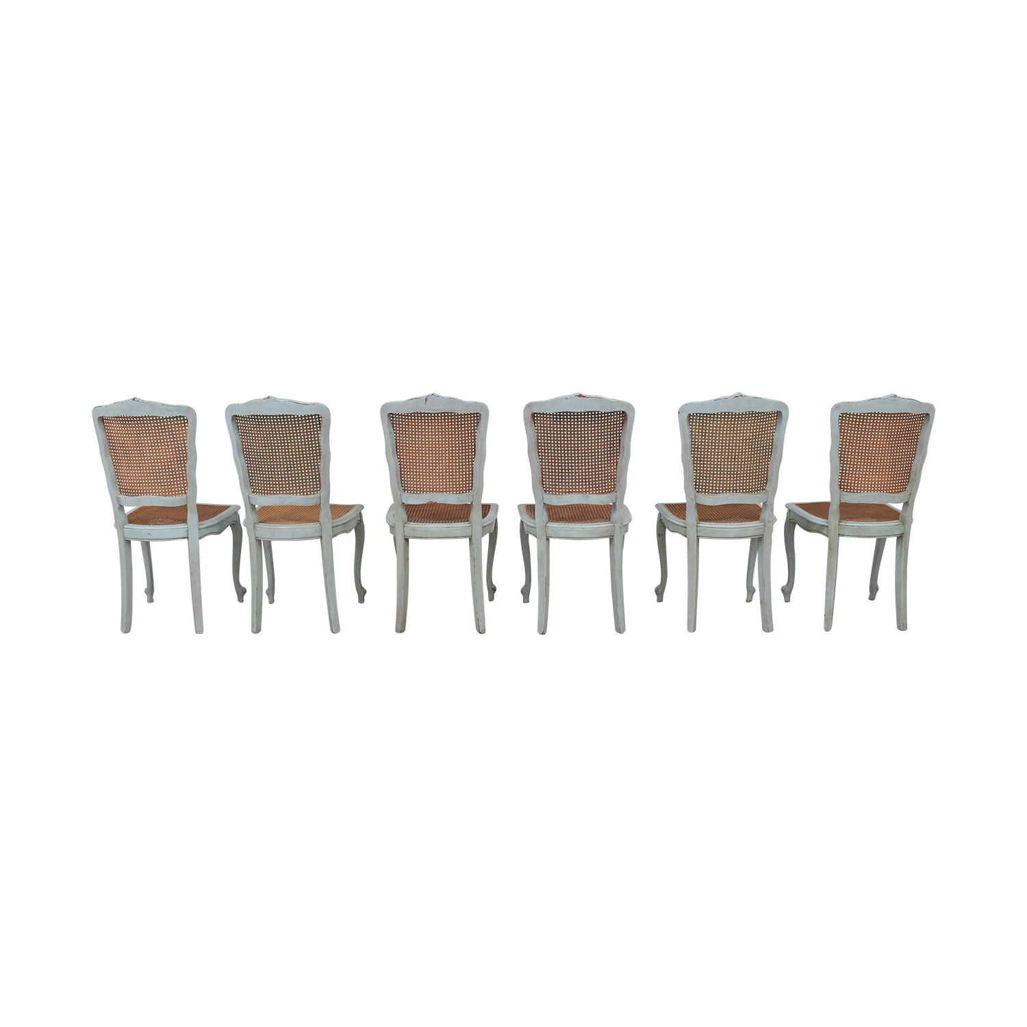 ABC Carpet & Home ABC Carpet & Home French Wicker Chairs Dining Chairs