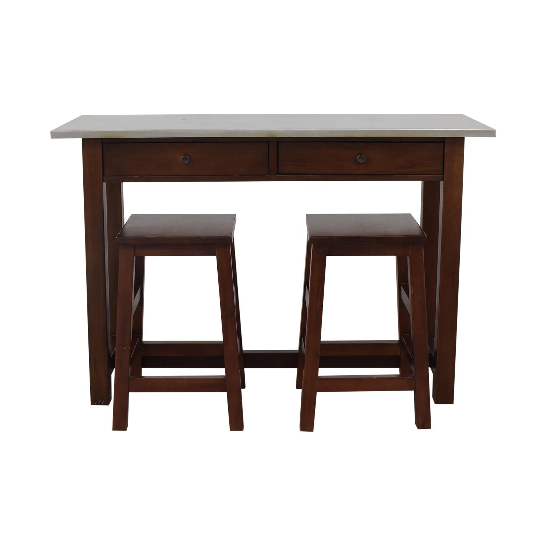 buy Pottery Barn Balboa Table and Stools Pottery Barn Tables