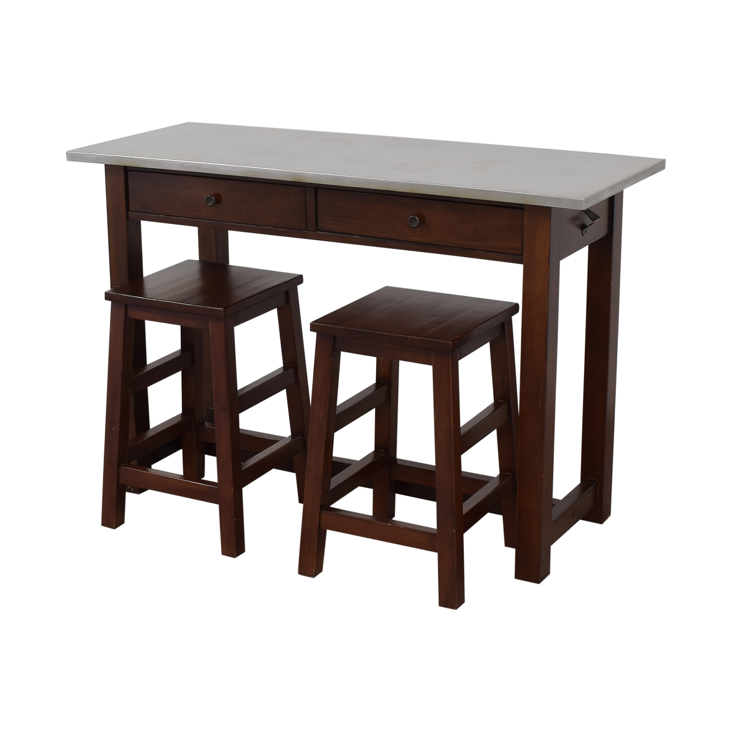 Awesome 64 Off Pottery Barn Pottery Barn Balboa Table And Stools Tables Machost Co Dining Chair Design Ideas Machostcouk