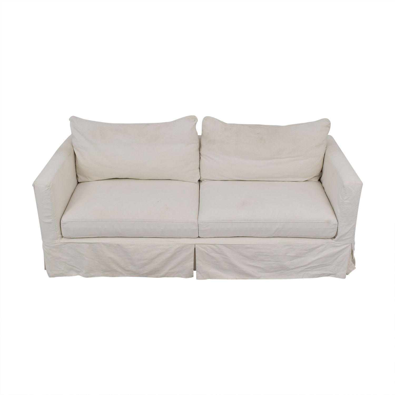 Crate & Barrel Crate & Barrel Willow Modern Slipcovered Sofa used