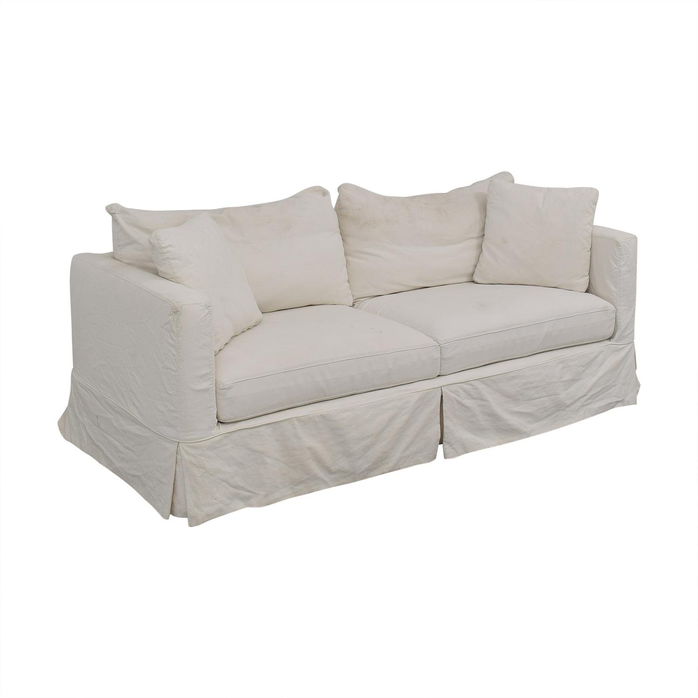 Crate & Barrel Willow Modern Slipcovered Sofa / Sofas