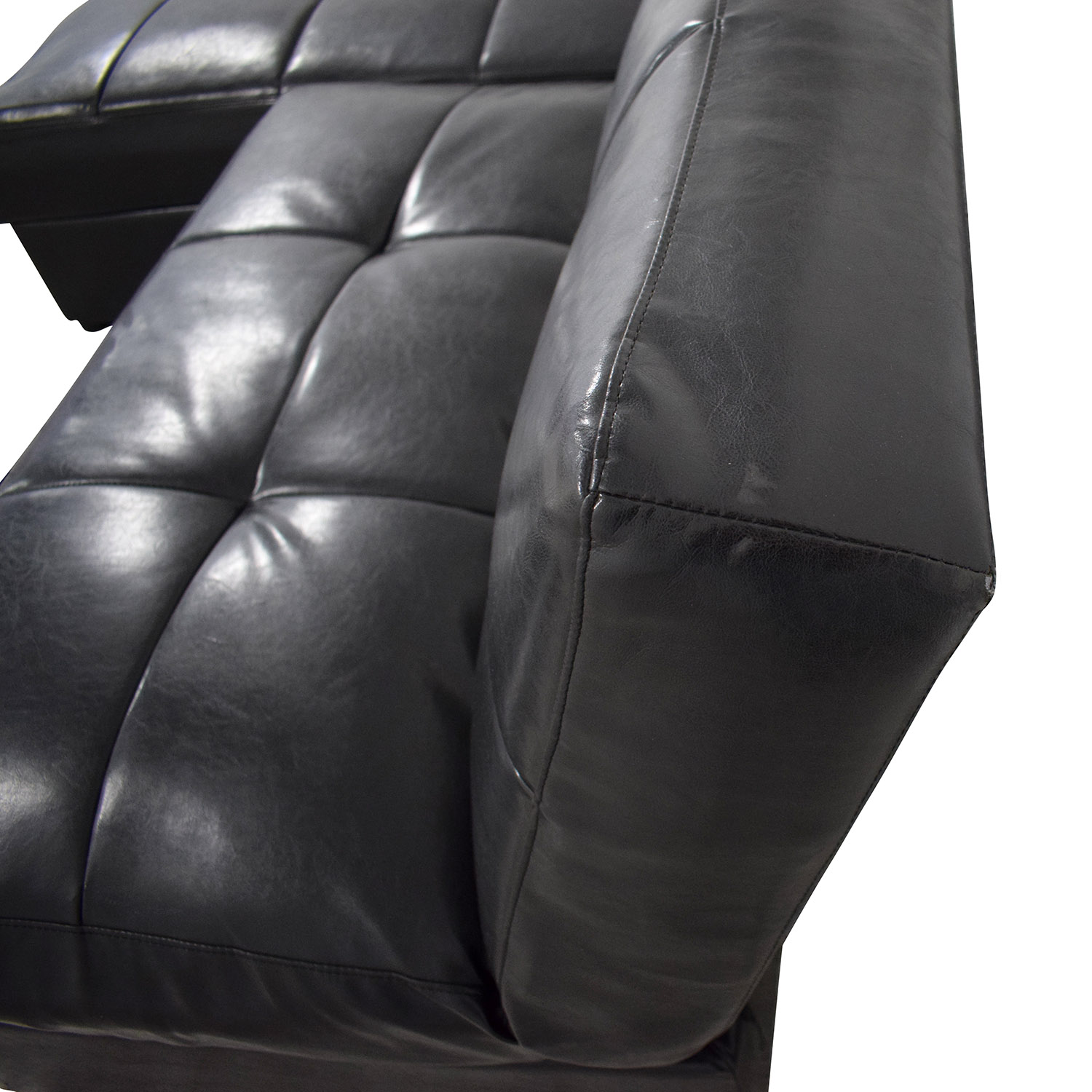 shop  Leather Sleeper Sectional with Storage online