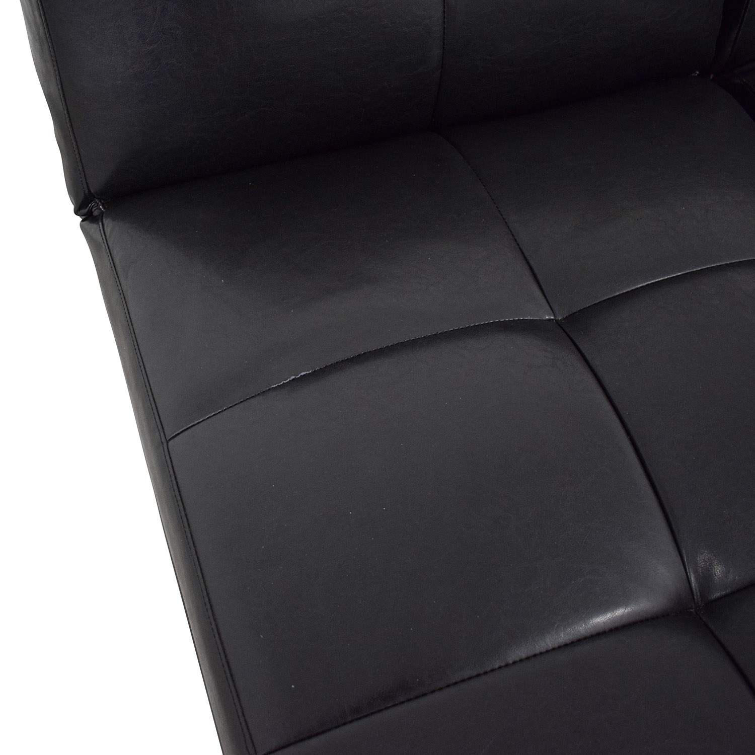 Leather Sleeper Sectional with Storage second hand